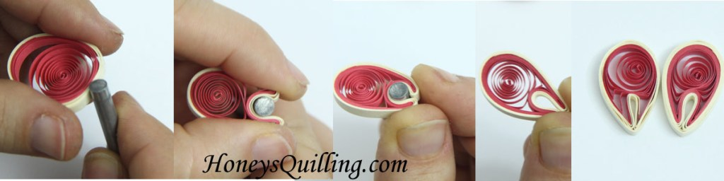 Tips on Making Paper Quilling Folded Circles for Malaysian Flowers - tutorial from Honey's Quilling