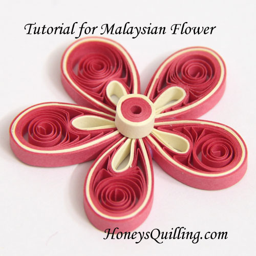 Tutorial for paper quilled malaysian flower honeys quilling paper quilling tutorial how to make malaysian flowers free tutorial from honeys quilling mightylinksfo