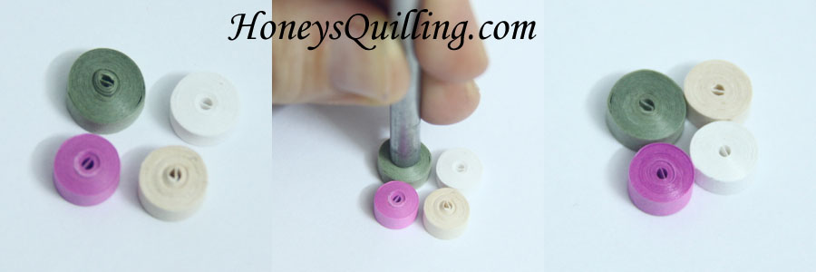 How to make smooth flat tight rolls for paper quilled jewelry - Honey's Quilling