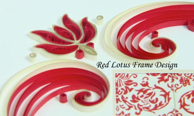 Red Lotus Wedding Frame Design