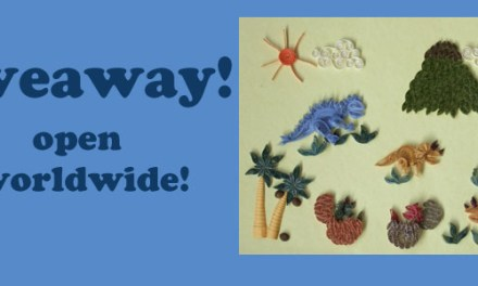 Giveaway – open worldwide! Paper Quilling Kit – Prehistoric Times