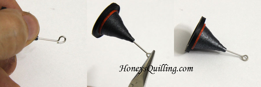 How to make a loop at the top of a headpin - tutorial by Honey's Quilling
