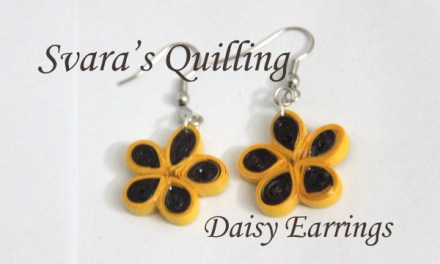 Quilling for Kids – Svara's Paper Quilled Flower Earrings
