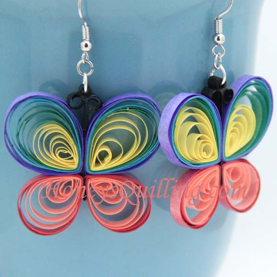 Rainbow butterfly paper quilling tutorial - Honey's Quilling