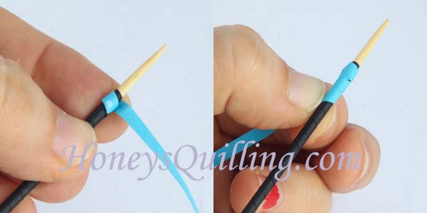 Paper quilled teardrop earrings made from tubing - free tutorial from Honey's Quilling