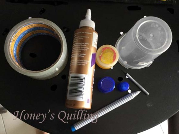 how to make huge hoop earrings made by paper quilling - Honey's Quilling