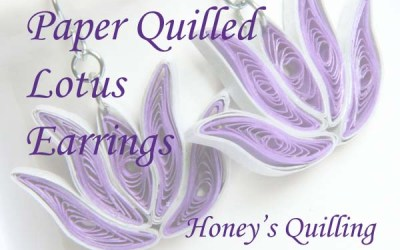 Paper Quilled Lotus Flower Design for Frames, Earrings, and Pendants