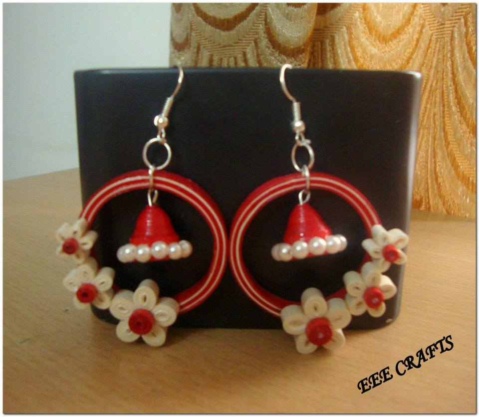 Quilling Papers Earrings: 26 Pairs Of Awesome Paper Quilled Jhumka