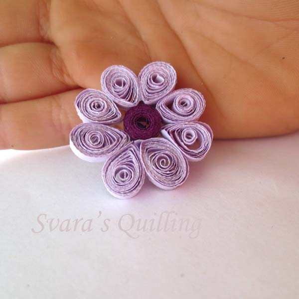 Quilling for Kids - Svara's Purple Flower