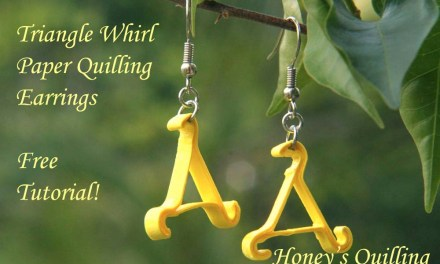 Paper Quilling Earrings Tutorial – Triangle Whirl