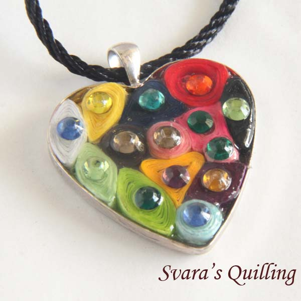 Paper Quilling for Kids - Svara's Heart Pendant