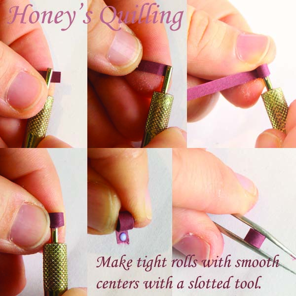 Making paper quilling jewelry - tip #10 - Making tight rolls with smooth middles