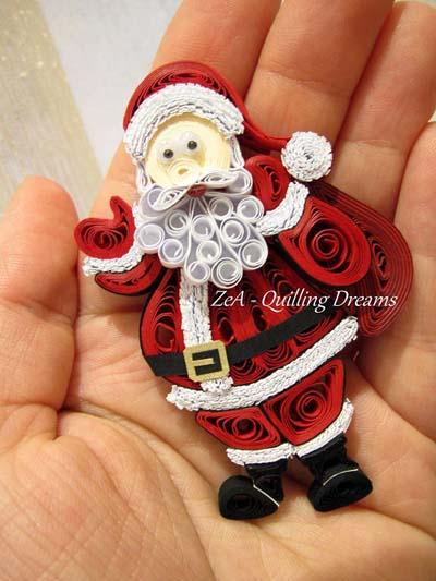 paper quilling santa