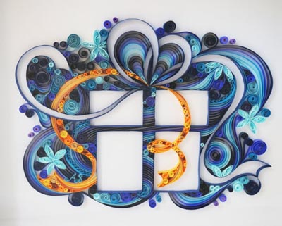 paper quilling christmas art gift