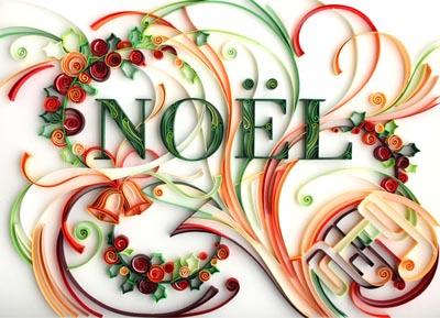 paper quilling christmas art yulia brodskaya noel