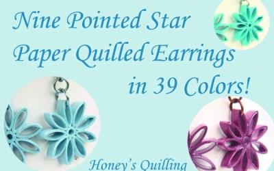 Nine Pointed Star Earrings