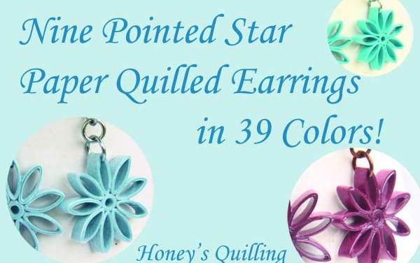 Nine Pointed Star Earrings