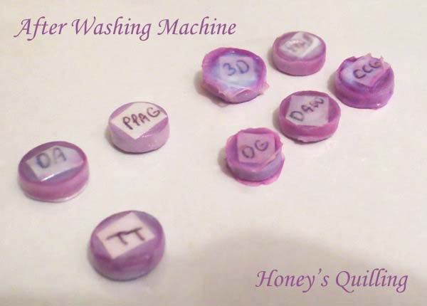 Experiments in testing the water resistance of different sealants on paper quilled jewelry - Honey's Quilling