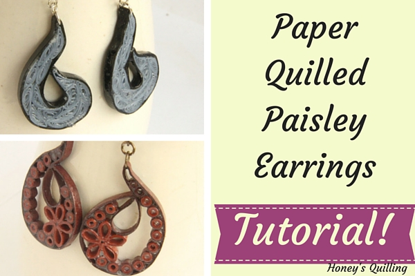 Tutorial for Folded Paisley Paper Quilling Earrings