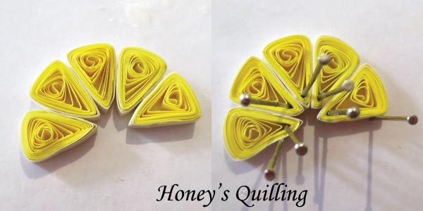 paper quilling lemon slice necklace - a free tutorial from Honey's Quilling