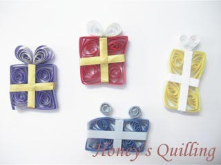 paper quilled small gift