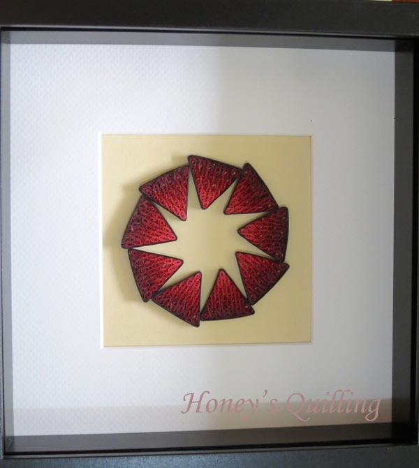 Nine Pointed Star Paper Quilling Frame Design - Honey's Quilling