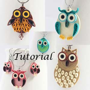 holiday sale - save 20% on jewelry and tutorials from Honey's Quilling!