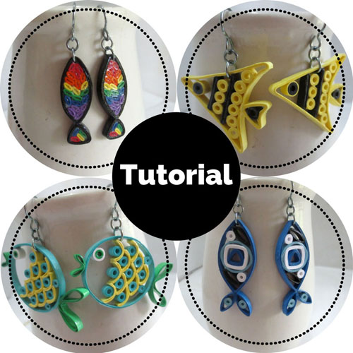 Tutorial for paper quilled fish jewelry - Honey's Quilling