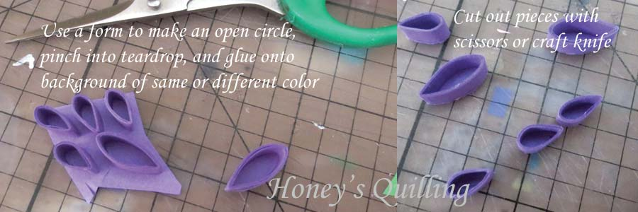 quilling shapes with color background - Honey's Quilling