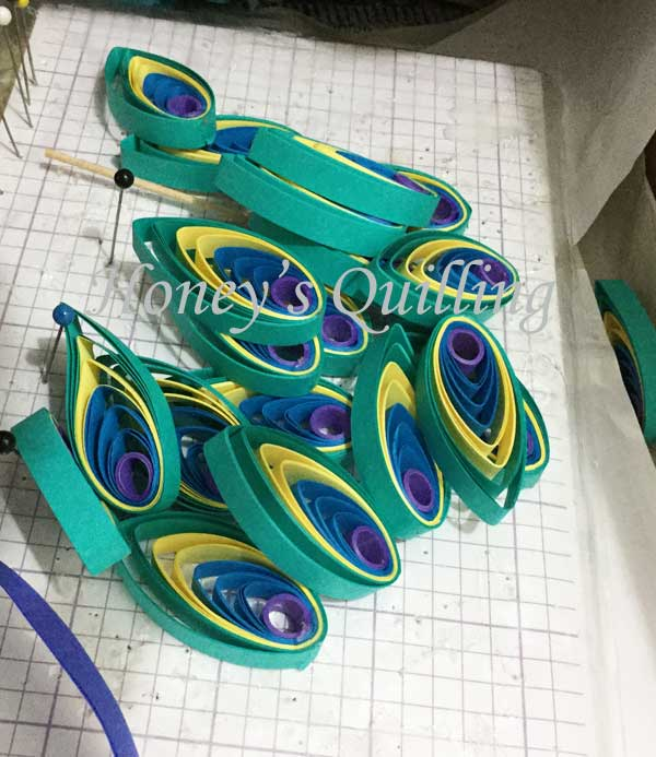 Large Paper Quilled Peacock Frame for Wedding , Honey\u0027s Quilling