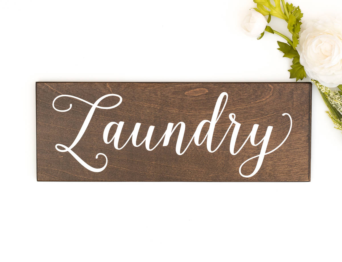 Rustic Laundry Sign Decor
