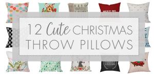cute christmas pillows