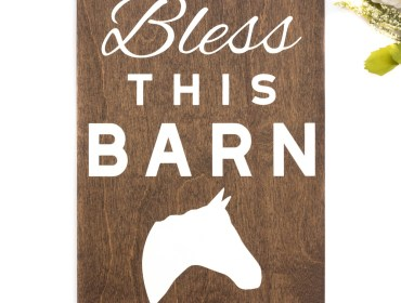 bless this barn sign