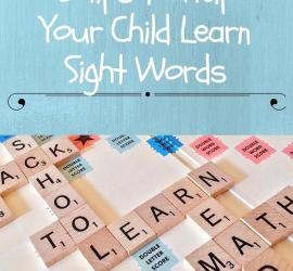 Sight Words 5 tips
