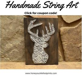 Handmade string art with access to coupon code!