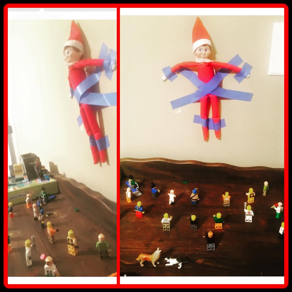 elf on the shelf ideas, Creative & unique elf ideas, Minifigure Lego take over!