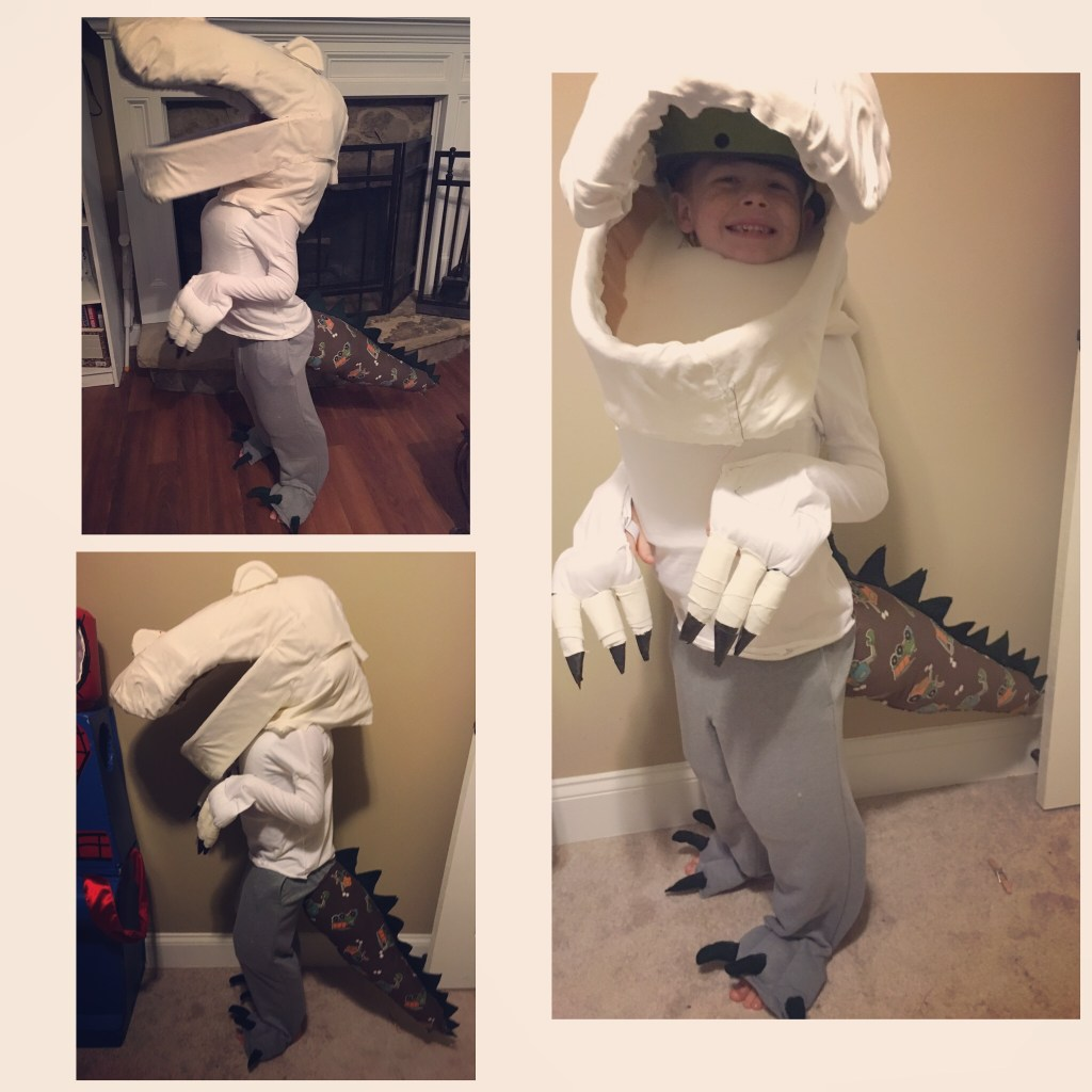 DIY, Homemade, Foam, Dinosaur Costume for Halloween
