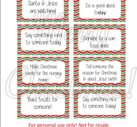 Elf on the Shelf Nice Notes, Nice Cards, Free Printable