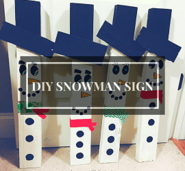 DIY Christmas snowman sign, pallet sign, 2x4, reclaimed wood