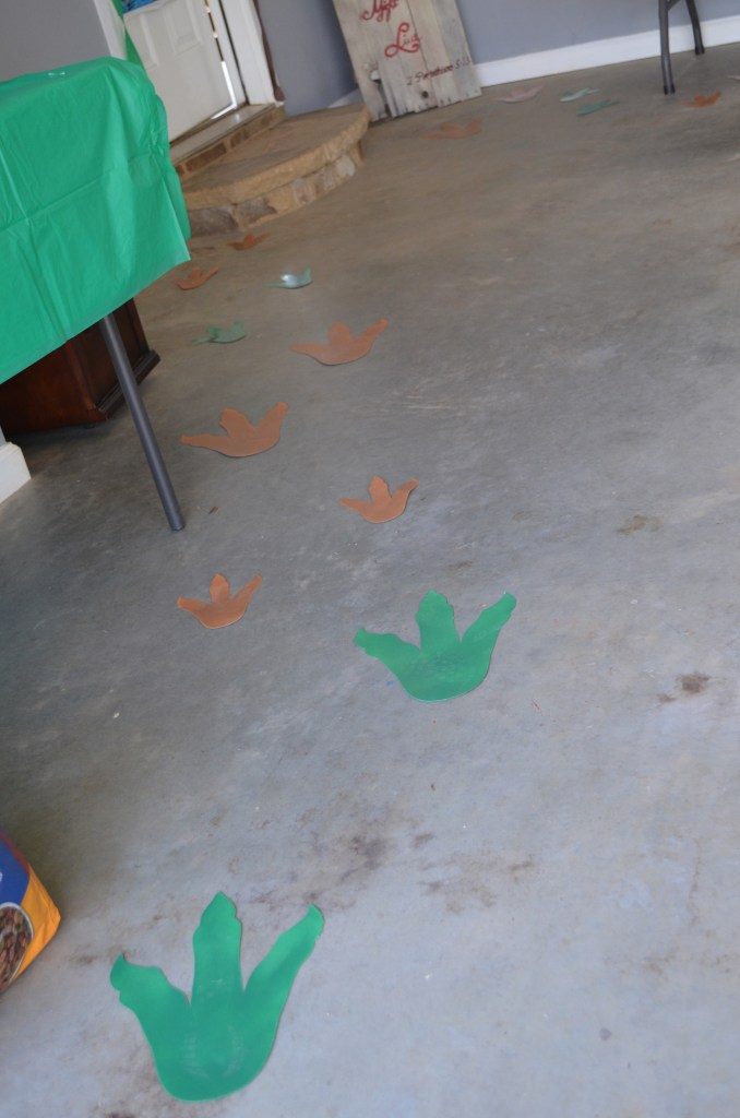 Jurassic, Dino, Party, Birthday, Ideas, Decorations, Decor, footprints