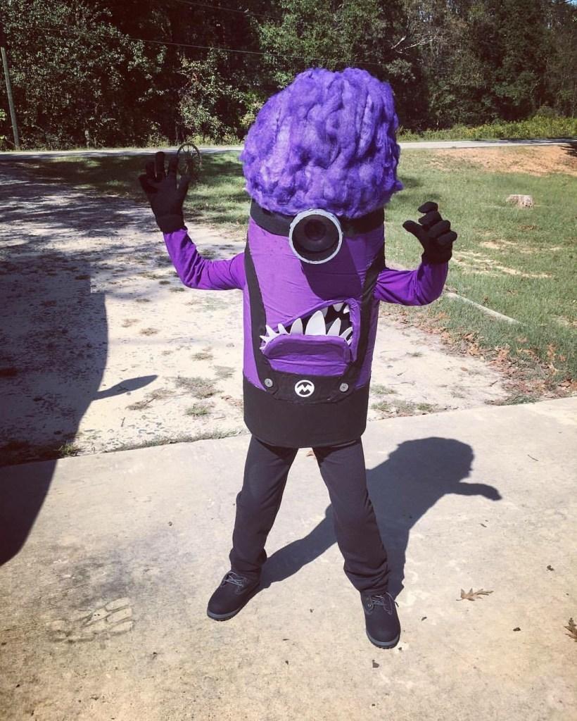 Evil Purple Minion Costume, Halloween Costume, Handmade, Costume, Halloween, DIY, Minion, Purple