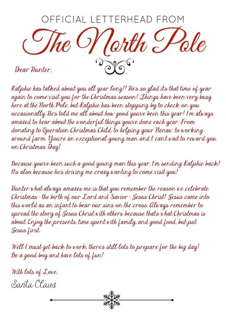 Elf on the Shelf Arrival Letter, Jesus, Christmas, EOTS, Free Download