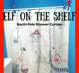 Elf on the Shelf North Pole Shower Curtain Amazing Ideas, Unique Ideas,