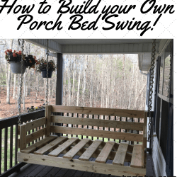 Porch Bed Swing, Porch Swing, Tutorial, DIY, do it yourself