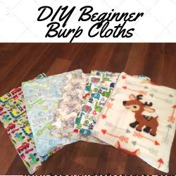 DIY, Beginner, Burp Cloths, Easy