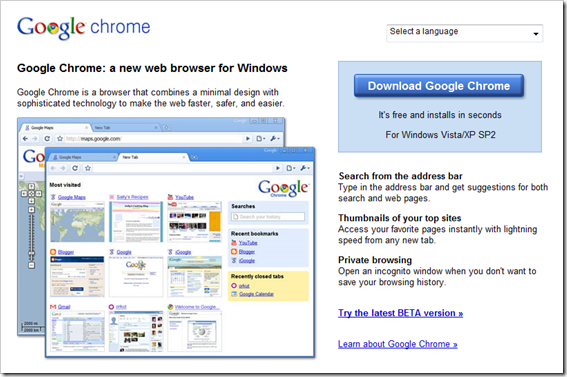 chrome1 10 Best Internet Browsers