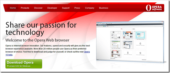opera 10 Best Internet Browsers