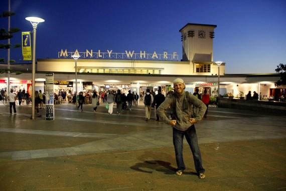 Manly Wharf man