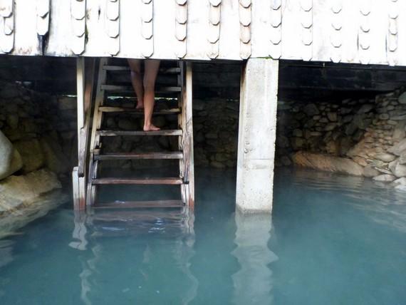 Hot springs at Los Pozones, Pucon, Chile
