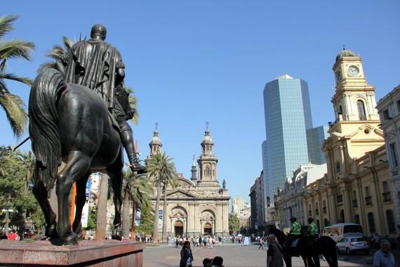 Plaza de Aramas in Santiago Chile
